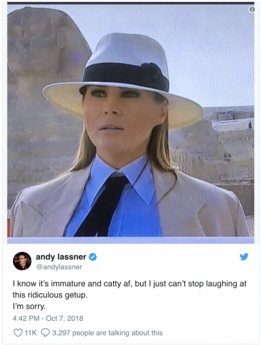 https://www.foxnews.com/entertainment/ellen-producer-is-more-afraid-of-another-melania-entering-us-than-entire-migrant-caravan?fbclid=IwAR2XW3tBnIJNUBWIwK2C67ppj7Pr2O09aeBOZxs5JwHfdik4pEuFTrO4DJI