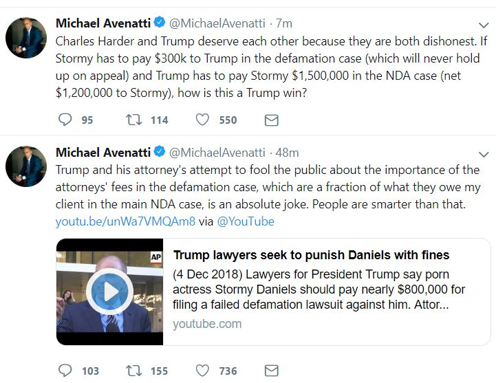 https://twitter.com/MichaelAvenatti/status/1072603572133654529