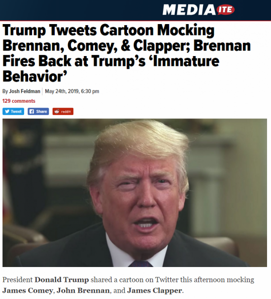 https://www.mediaite.com/trump/trump-tweets-cartoon-mocking-brennan-comey-brennan-fires-back-at-trumps-immature-behavior/