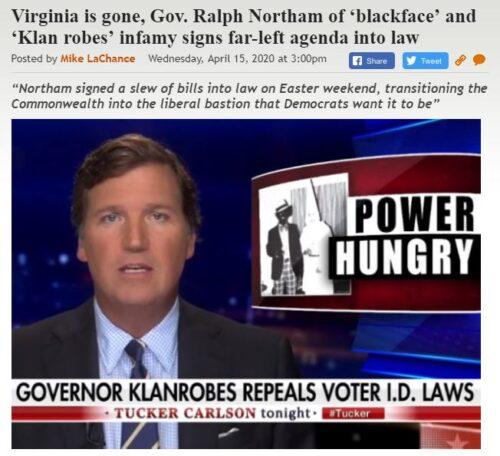 https://legalinsurrection.com/2020/04/virginia-is-gone-gov-ralph-northam-of-blackface-and-klan-robes-infamy-signs-far-left-agenda-into-law/