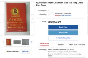 https://www.ebay.com/itm/Quotations-From-Chairman-Mao-Tse-Tung-Little-Red-Book/180702363558?hash=item2a12b33fa6:g:pJgAAMXQbcRQ6VJM