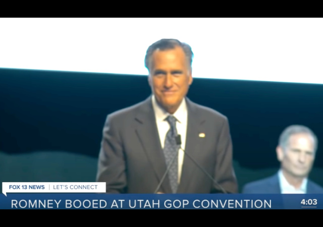 'Traitor' Romney booed in Republican flare-up